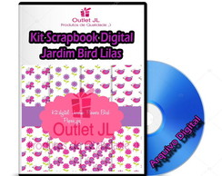 Kit Scrapbook Digital - Jardim Bird Lilas