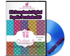 Kit Scrapbook Digital - Papéis Perolados XD