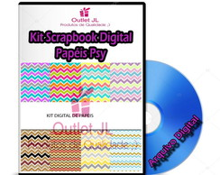 Kit Scrapbook Digital - Papéis Psy