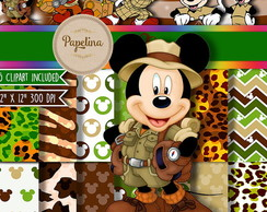 Papel Digital Mickey Safari 1065
