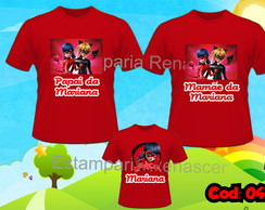 KIT CAMISETA PERSONALIZADAS LADY BUG CAT NOIR C/3