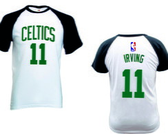Camiseta Raglan Manga Curta Boston Celtics