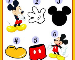 30 Recortes de Aplique Mickey