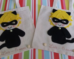 Mini Ecobag Cat Noir e Miraculous