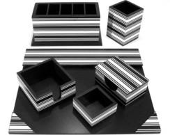 Porta Lápis e Clips de Porcelana Branca para Mesa de Escritório  4af4ab95865c6