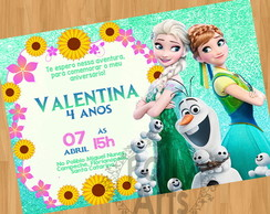 Convite Digital Frozen Fever Frozen Verde