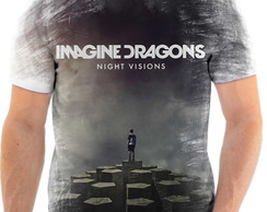 Camisa Camiseta Personaliza Banda De Rock Imagine Dragons