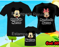 KIT CAMISETA ANIVERSARIO MICKEY MINNEI C/3