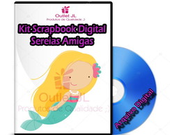 Kit Scrapbook Digital - Sereias Amigas