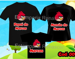 KIT CAMISETA ANIVERSARIO ANGRY BIRDS C/3