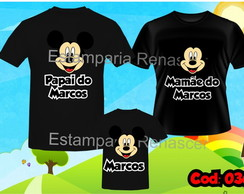 KIT CAMISETAS ANIVERSARIO MICKEY MINNEI C/3