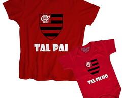 ... Kit Tal Pai Tal Filho Flamengo 100% Algodão 8c1b4bb675776