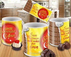 Caneca Chocolate Serenata de Amor