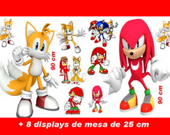 Totem de chão Knuckles and Tails e displays de mesa