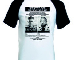 Camiseta Raglan Manga Curta Prison Break
