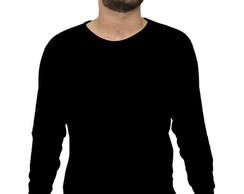 2332e29c0 Camiseta Roma manga longa lisa preta no Elo7