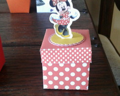 Caixa cubo com aplique Minnie