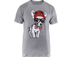 Camiseta Estampa Dog with Bow Tie