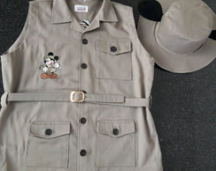 Colete Mickey Safari Adulto
