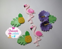 Apliques Flamingos ou Festa Tropical