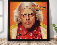 Quadro Decorativo com Moldura Back To The future 30x30