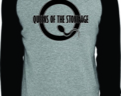 Camiseta Raglan Manga Longa Queens of the Stone Age