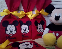 Saquinho Bordado para Chocolate Temas - Mickey