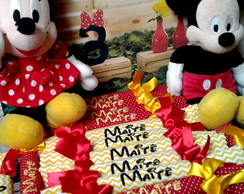Bala Bordada Tema Minnie e Mickey