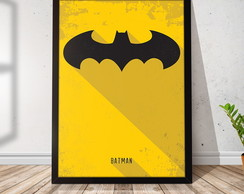 Quadro Decorativo com Moldura Batman 21x30