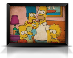 Quadro/Poster Retrô The Simpsons - GR009