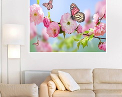 Painel Adesivo Para Parede Floral Modelo 10-M 66x90cm