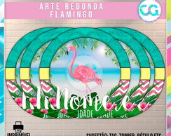 Flamingo - Arte Redonda Digital