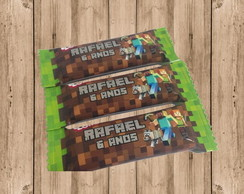 Rótulo para chocolate minecraft