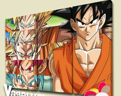 Quadro triplo Goku dragon ball