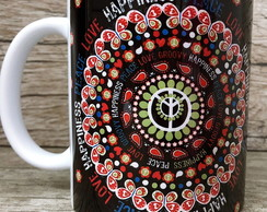 Caneca Love & Peace & Hapiness