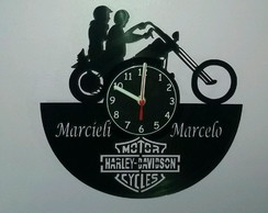 776c304fee8 ... Relógio Casal de Motoqueiro Personalizado.