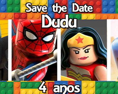 CONVITE DIGITAL SAVE THE DATE LEGO