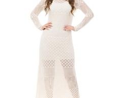 83e69b953 ... Vestido Longo Feminino Tricot Decote Canoa Off-White 05012