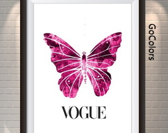 ARTE DIGITAL POSTER BORBOLETA VOGUE