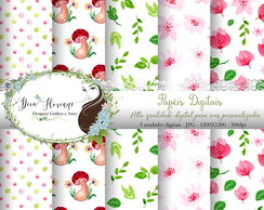 Papel Digital Floral Papers 13
