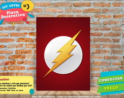 Placa Decorativa - Herois - The Flash - REF354