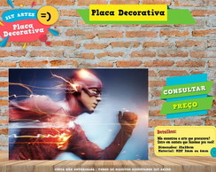 Placa Decorativa - Herois - The Flash - REF355