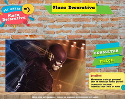 Placa Decorativa - Herois - The Flash - REF356