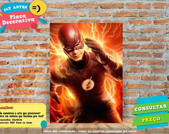 Placa Decorativa - Herois - The Flash - REF360