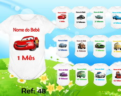 KIT 12 BODY MESVERSARIO CARROS DISNEY BODIE, BODI