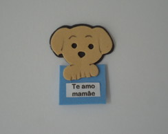 DOG COM PLACA DIA DAS MÃES