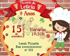 Arte Digital Convite Pizzaria