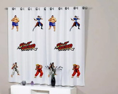 Cortina Quarto Street Fighter Geek Decorativa