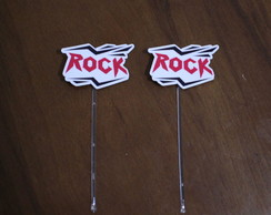 Topper para doces - rock and roll
