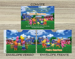 Convite BACKYARDIGANS Mais Envelope BACKYARDIGANS